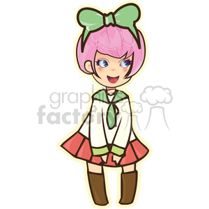 School Girl clipart. Commercial use image # 394629