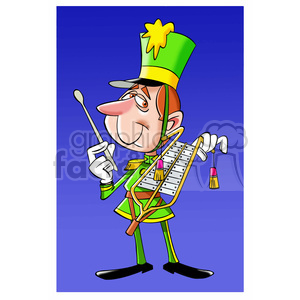 band member holding his musical instrument clipart. Royalty-free image # 394709
