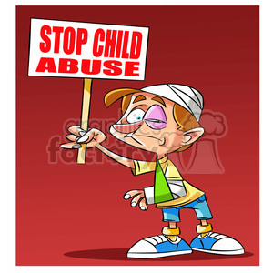 stop child abuse clipart. Royalty-free image # 394729
