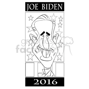 joe biden 2016 black and white clipart. Royalty-free image # 394789