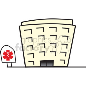 cartoon hospital clipart. Royalty-free image # 149650
