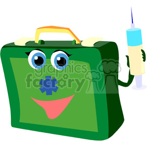 medical bag holding a needle clipart. Royalty-free image # 149607