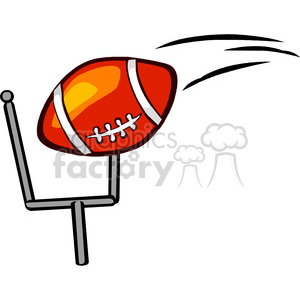 Football going through goal post fieldgoal animation. Commercial use animation # 168978