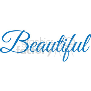 beautiful vector word clipart. Royalty-free image # 394866