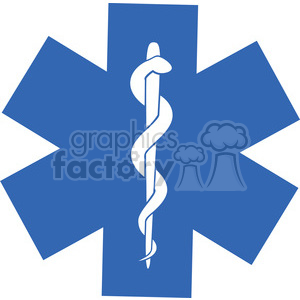 Blue medical Symbol clipart. Commercial use image # 394871