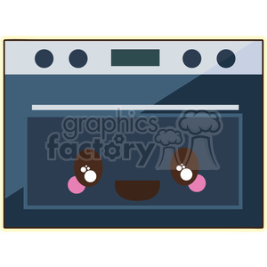 Oven cartoon character vector image clipart. Royalty-free image # 394882