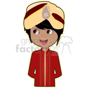 Indian Groom cartoon character vector image clipart. Royalty-free image # 394952