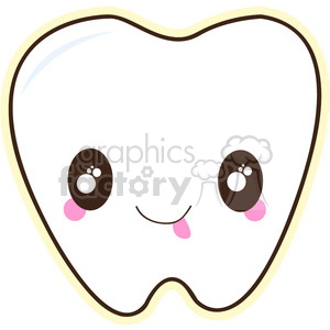 Tooth cartoon character vector image clipart. Commercial use image # 394982
