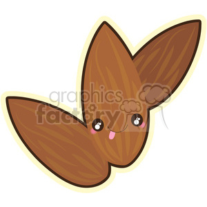 Almond cartoon character vector clip art image clipart. Royalty-free image # 395008