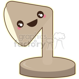 Desk lamp cartoon character vector clip art image clipart. Royalty-free image # 395028