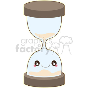 cartoon character hourglass time timer