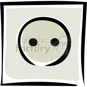 electrical outlet clipart. Royalty-free image # 173720