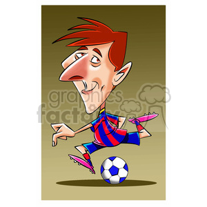 lionel messi soccer player clipart. Royalty-free image # 395105
