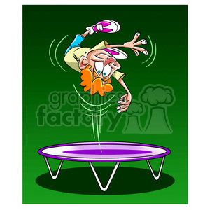kid jumping on a trampoline clipart. Royalty-free image # 395165