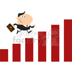 8291 Royalty Free RF Clipart Illustration Manager Running Over Growth Bar Graph Flat Design Style Vector Illustration clipart. Commercial use image # 396018