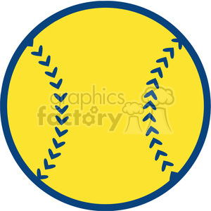 Yellow Baseball Ball clipart. Royalty-free image # 396057