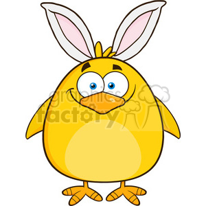 8599 Royalty Free RF Clipart Illustration Smiling Easter Chick Cartoon Character With Bunny Ears Vector Illustration Isolated On White clipart. Royalty-free image # 396107