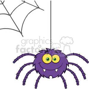 8953 Royalty Free RF Clipart Illustration Smiling Purple Halloween Spider Cartoon Character On A Web Vector Illustration Isolated On White clipart. Royalty-free image # 396237