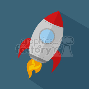 8302 Royalty Free RF Clipart Illustration Rocket Ship Start Up Concept Flat Style Vector Illustration clipart. Royalty-free image # 397033