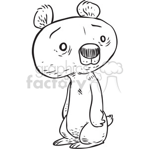 little bear cub clipart. Commercial use image # 397092