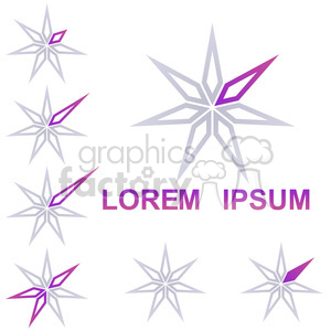 logo template star 010 clipart. Commercial use image # 397262