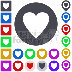 heart icon pack clipart. Commercial use image # 397292