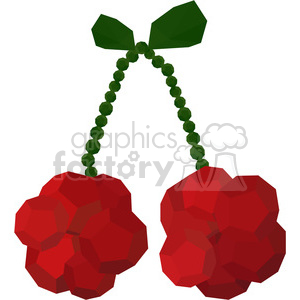 Cherries geometry geometric polygon vector graphics RF clip art images clipart. Commercial use image # 397316