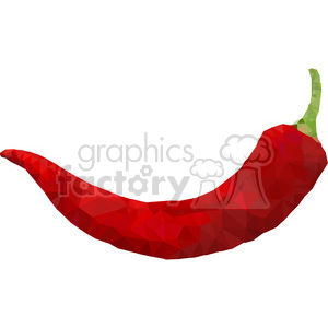 geometry polygons food pepper chili hot red triangle+art