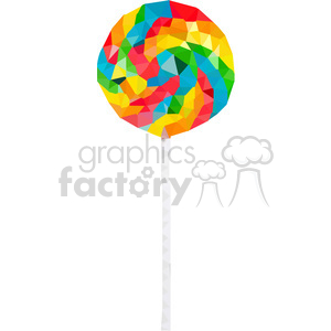 Lollipop geometry geometric polygon vector graphics RF clip art images clipart. Commercial use image # 397346