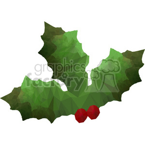 geometry polygons holly leaf christmas berries triangle+art