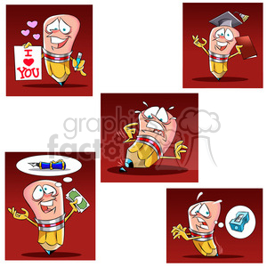 woody the cartoon pencil character clip art image set clipart. Commercial use image # 397426