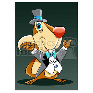 luke the cartoon squirrel wearing a tuxedo clipart. Commercial use image # 397656