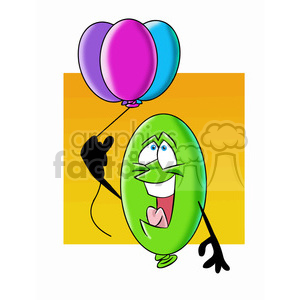 cartoon party balloon vector image mascot happy holding balloons clipart. Royalty-free image # 397746