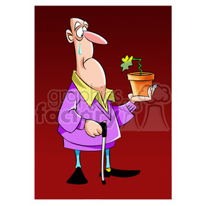 max the senior holding a flower pot clipart. Royalty-free image # 397796