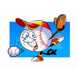 cartoon baseball mascot pitcher speedy clipart. Royalty-free image # 397836