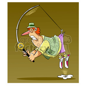 stan the cartoon fishing character catching himself clipart. Commercial use image # 397876