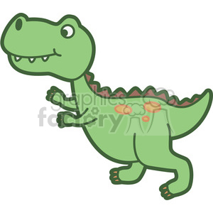 trex dinosaur cartoon clipart. Commercial use image # 397934