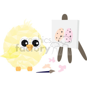 Chick painting clipart. Commercial use image # 397974