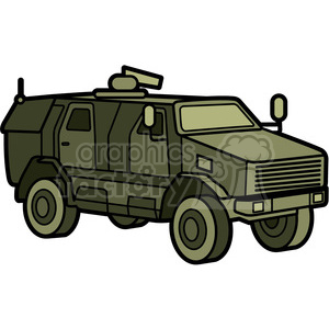 military armored mrap vehicle clipart. Commercial use image # 397994