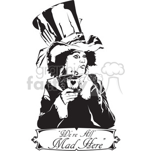 alice in wonderland mad hatter clipart. Royalty-free image # 398014