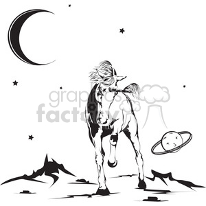 unicorn in space illustration clipart. Royalty-free image # 398024