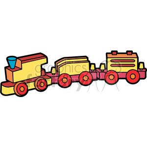 toy wooden train illustration graphic clipart. Royalty-free image # 398034