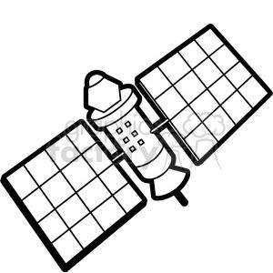 black white satellite illustration graphic clipart. Commercial use image # 398064