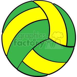sports equipment green yellow volleyball clipart. Commercial use image # 398104
