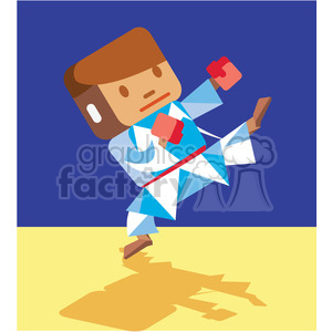 olympic martial arts character illustration
