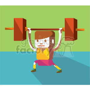 weightlifter character illustration clipart. Royalty-free image # 398134