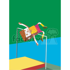 olympic high jump sports character illustration clipart. Royalty-free image # 398154