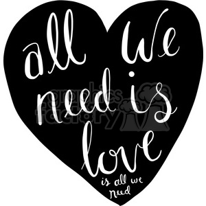 all we need is love is all need clipart. Commercial use image # 398184