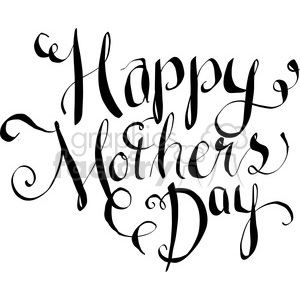 happy mothers day calligraphy art clipart. Commercial use image # 398194
