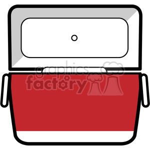 red opened cooler icon clipart. Royalty-free image # 398204
